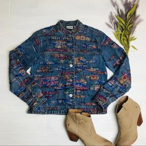 Chico's Fringed Jean Jacket